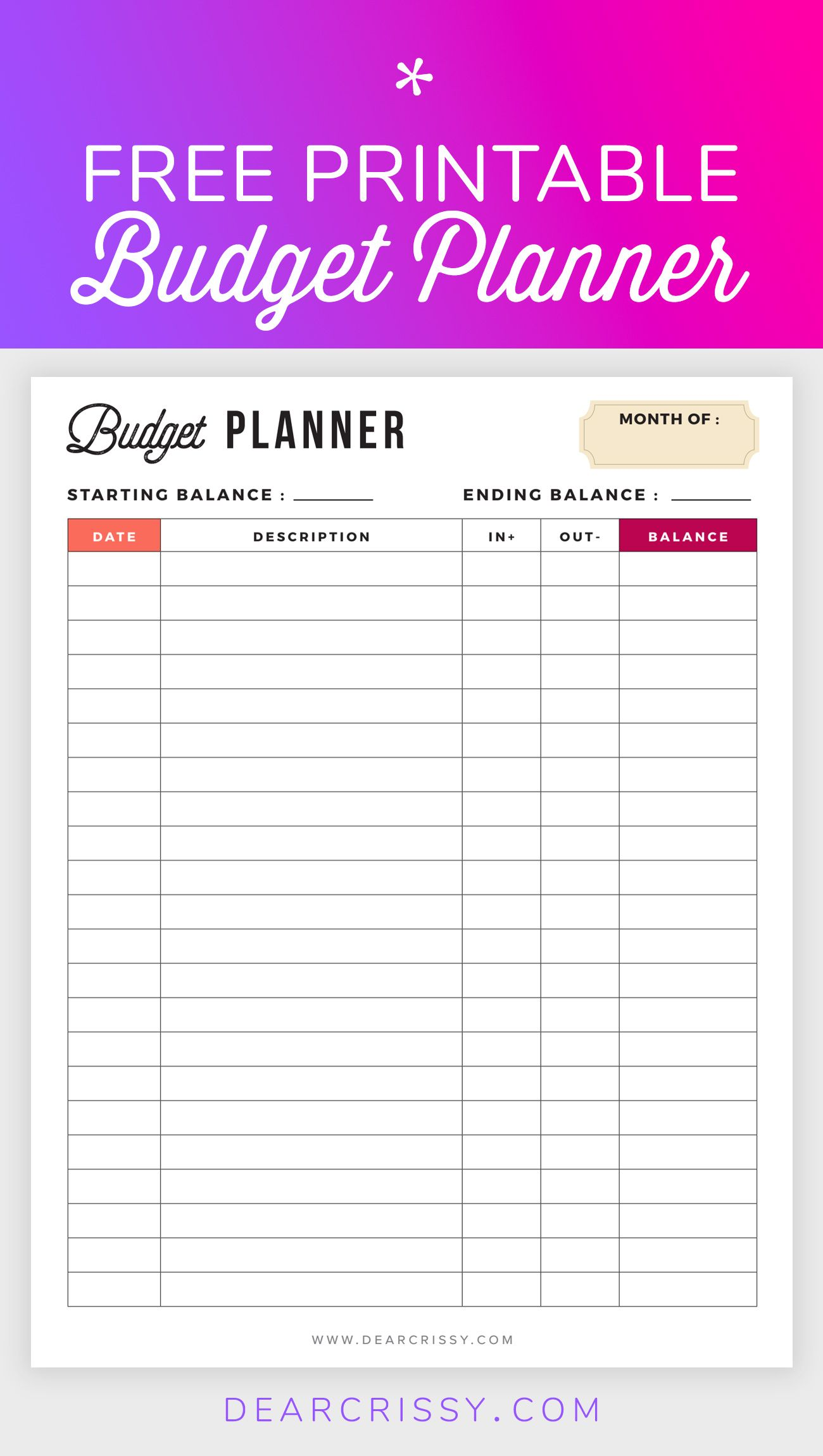 graphic regarding Budget Planner Printable named No cost Finances Planner Printable - Printable Finance Planner