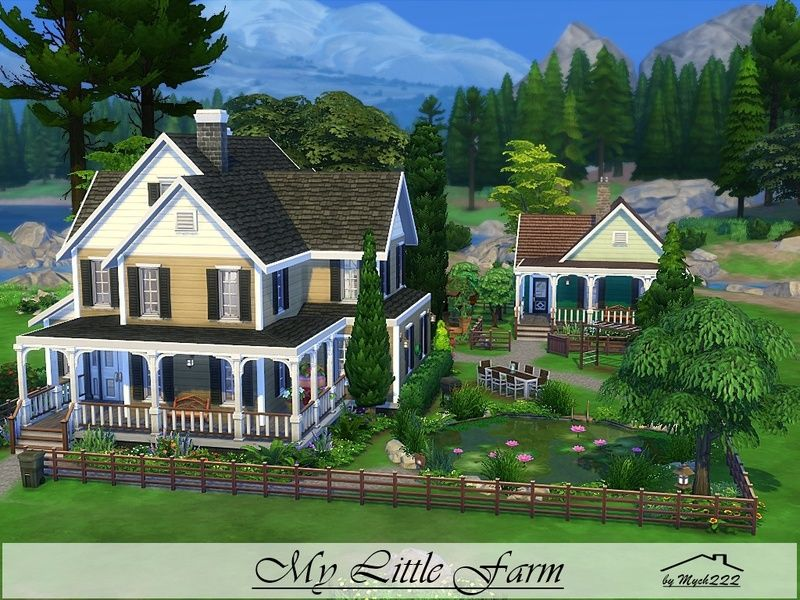 My Little Farm Is A Charming Place Perfect For A Professional Gardener Built On 40x30 Lot In Granite Falls Found In T Sims 4 House Building Sims Building Sims