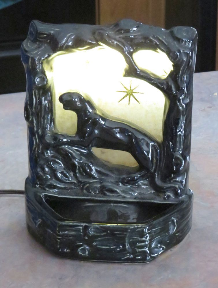 50's Black Panther Lamp. Works!!