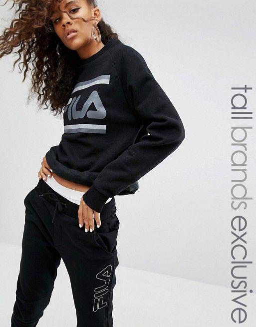 Fila black oversize sweatshirt 90's trend   Sweatshirts