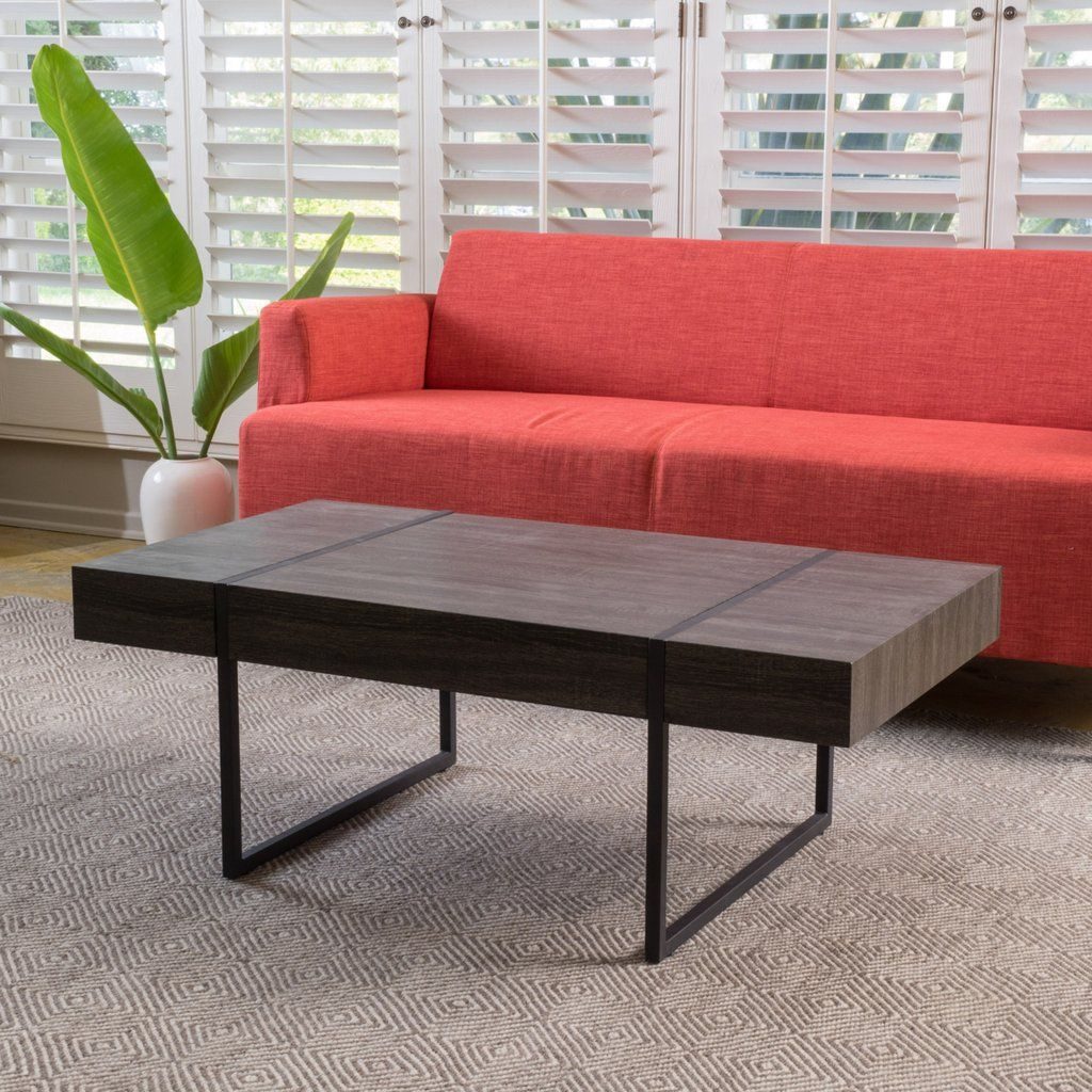 Best Black Sonoma Oak Laminated Hardwood Coffee Table Coffee 400 x 300