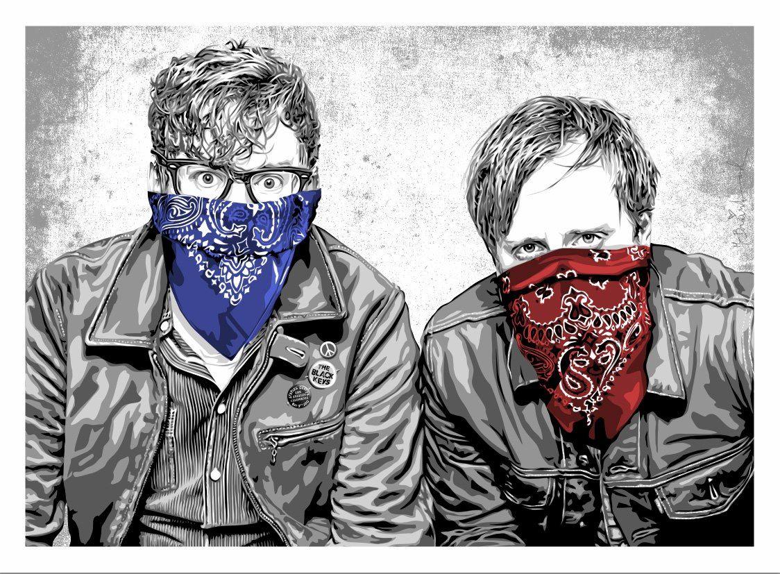 The Black Keys Bandidos Poster Music Pinterest Best Rock - Los angeles poster black and white