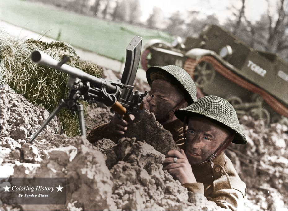 British light machine gun team BREN Mk 1  During operation Market