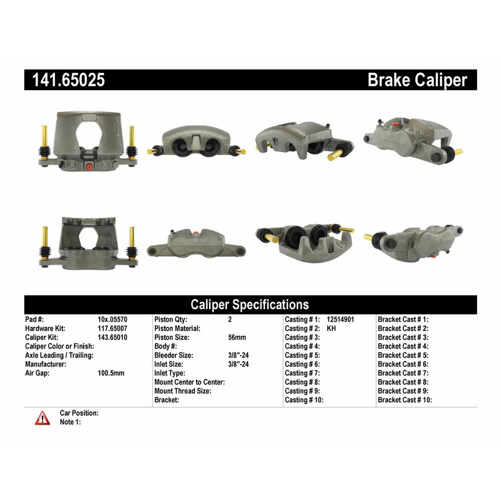 Centric Parts Front Right Premium Semi-Loaded Caliper fits