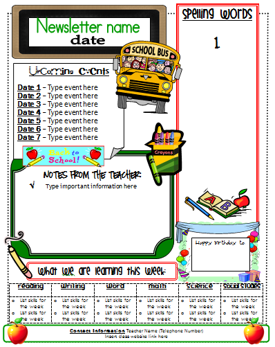 Newsletter Template | Classroom organization | Pinterest ...