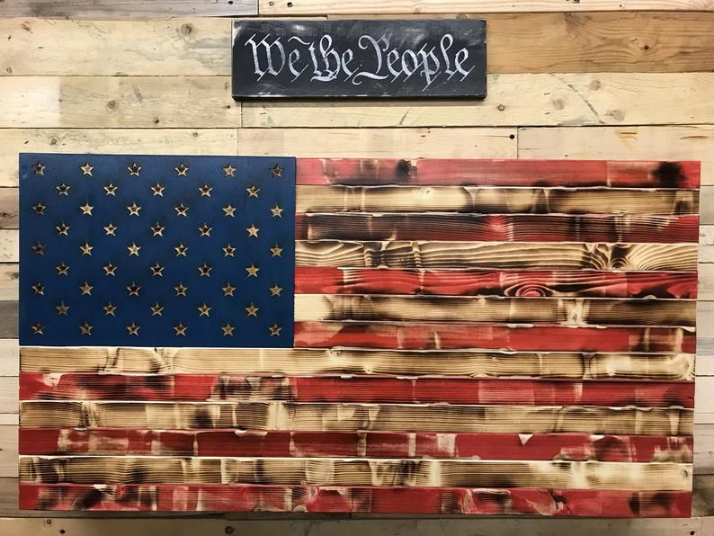 Distressed RWB or Black &Burnt concealment flag #americanflagart