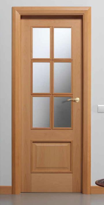 Puerta puertas modernas puertas internas molduras for Puertas de madera interiores modernas