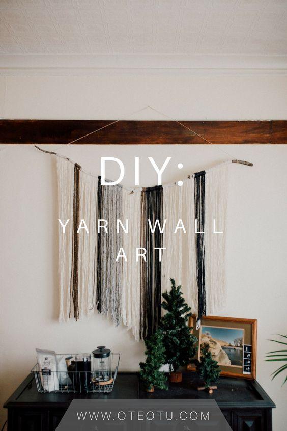 Diy yarn wall art campanas de viento telar y decoracin de diy yarn wall art solutioingenieria Images