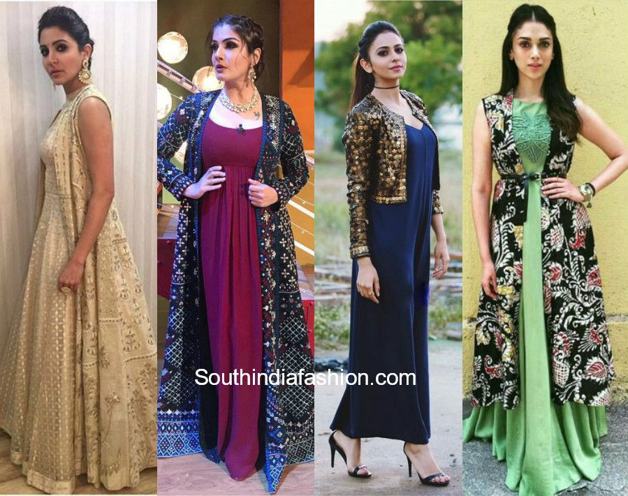 Jacket Gowns Trend in 2018 | STYLING !! | Pinterest | Indian gowns ...