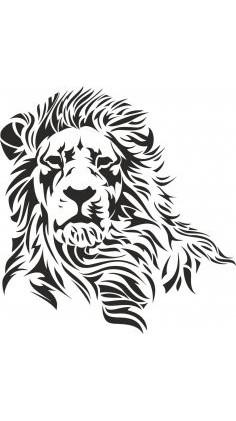 Large Pochoir mural en mylar Motif lion A2 Stencil