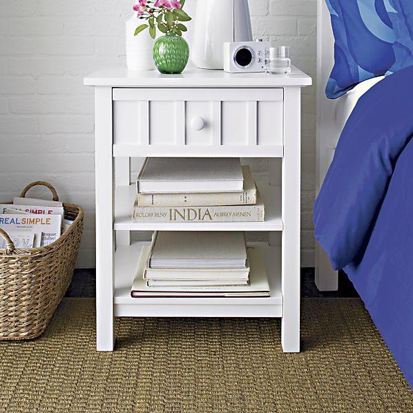 For bathroom vanity brighton white nightstand in - Crate and barrel bathroom vanities ...