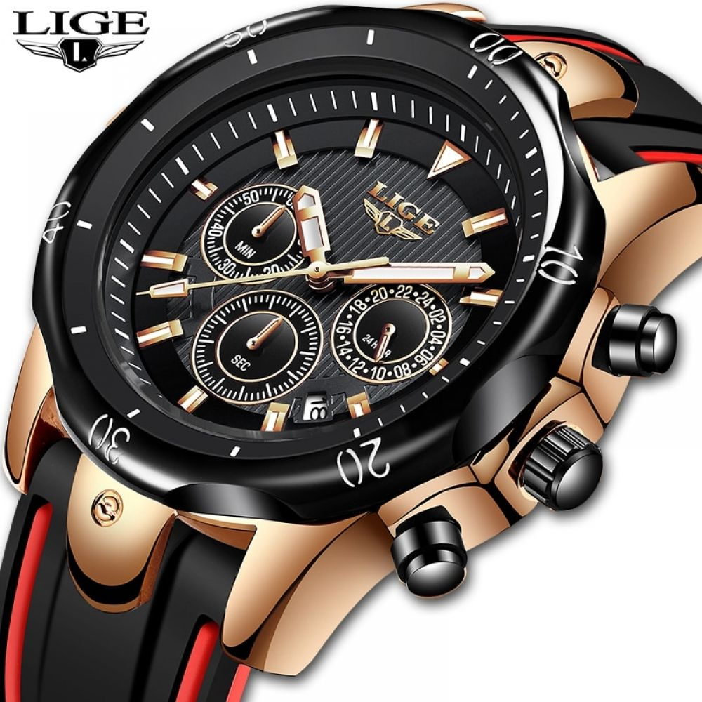 Price 44 38 Lige Watch Silicone Strap Waterproof Lige9972 Free Shipping Ligewatch Menslige Watch In 2020 Mens Watch Brands Watches For Men Fashion Watches