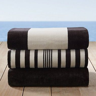 Wholesale Black And White Cabana Stripe Beach Towels Manufacturers
