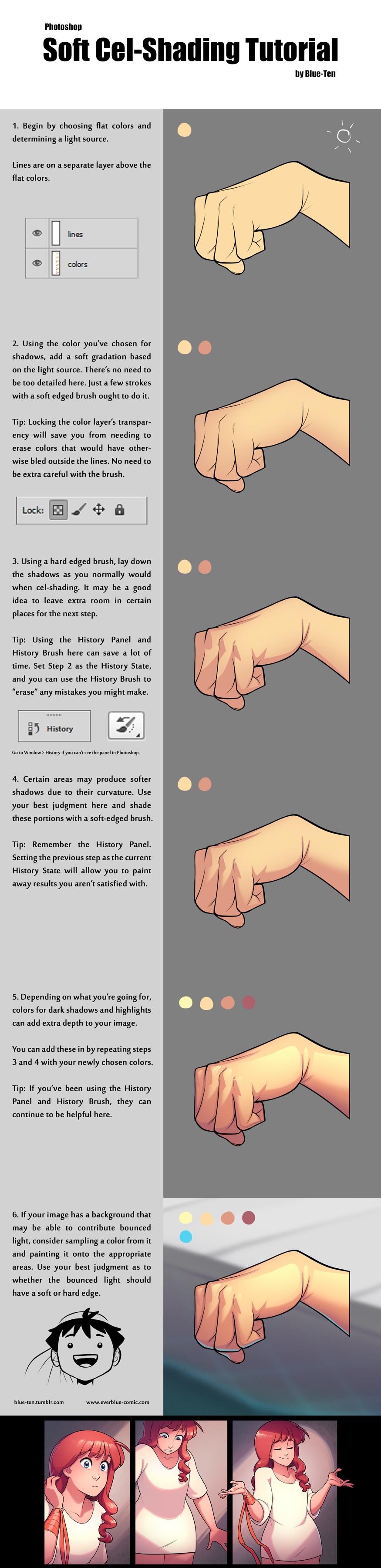 soft cel shading tutorial painting tutorials pinterest