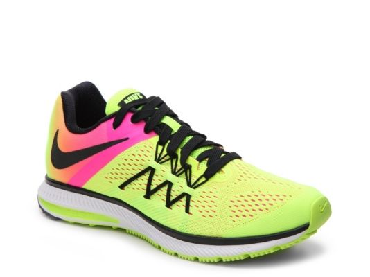 wholesale dealer a3df3 41be2 Men s Nike Zoom Winflo 3 OC Running Shoe - - Neon Yellow Pink
