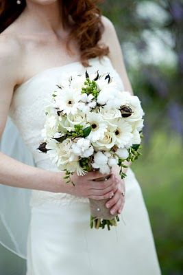 Bouquet with cotton bolls