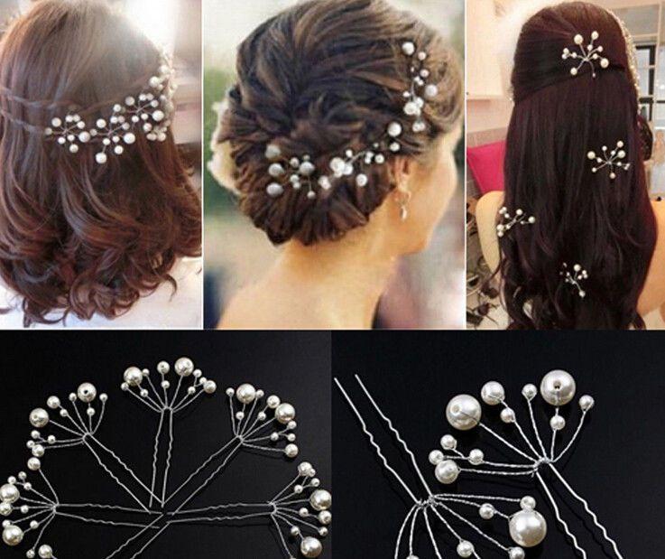 1pc Wedding Bridal Pearl Hair Pins Clips Bride Headpiece Hair Decor