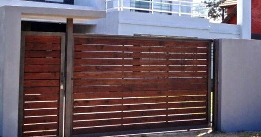 Reja porton cerco frente casa buscar con google rejas - Rejas de madera ...
