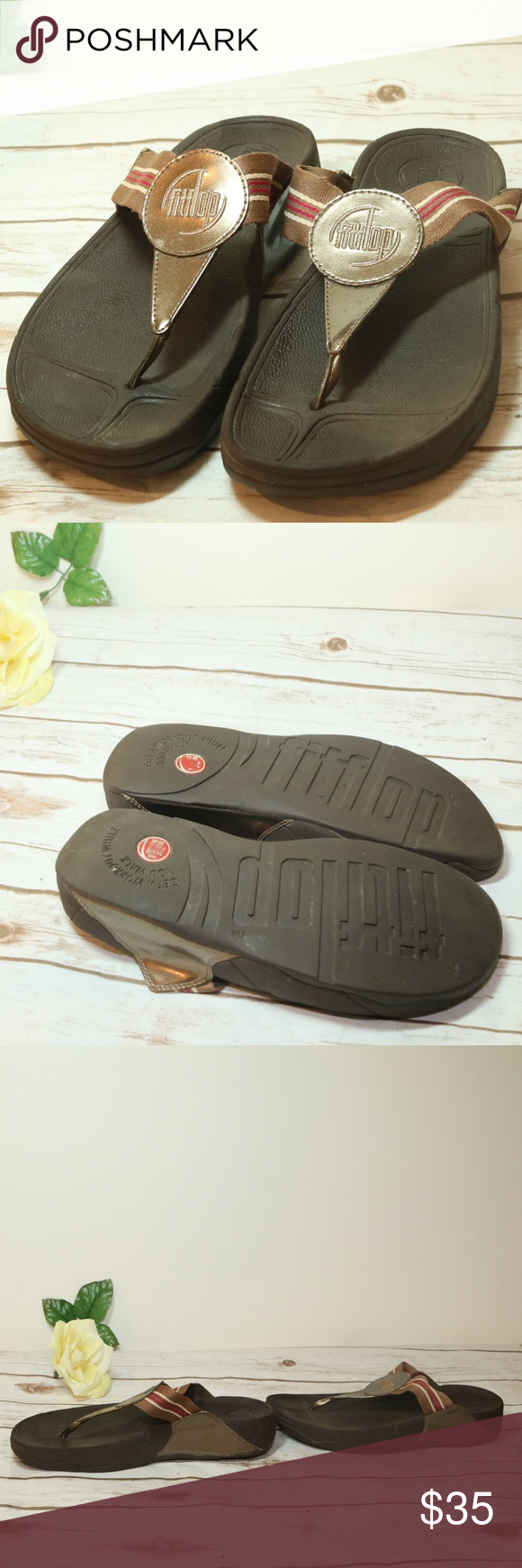 fa1273d1ab7 Fitflop slippers gold brown thong sandals fitflop slippers gold brown thong  sandals png 580x1740 Shoes fitflop