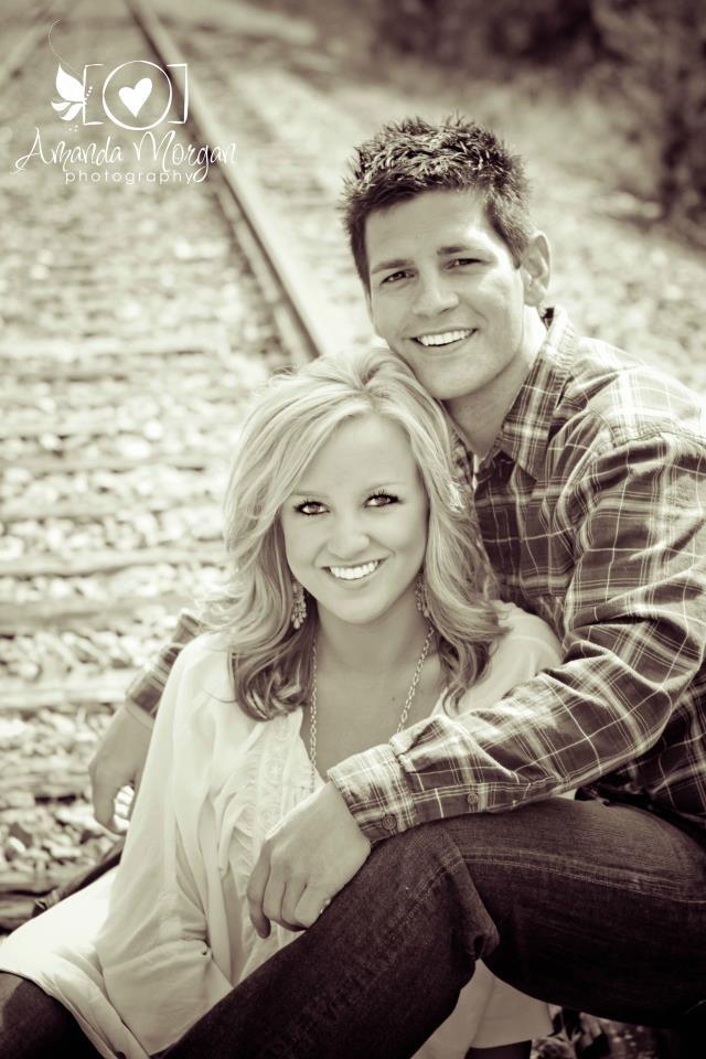Engagement session railroad tracks amandamorganphotography net young couple picturesingagement