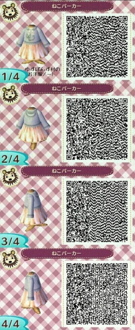 Image of: Acnl Animal Crossing New Leaf Qr Code Pinterest Animal Crossing New Leaf Qr Code Ac Clothes Pinterest Animal