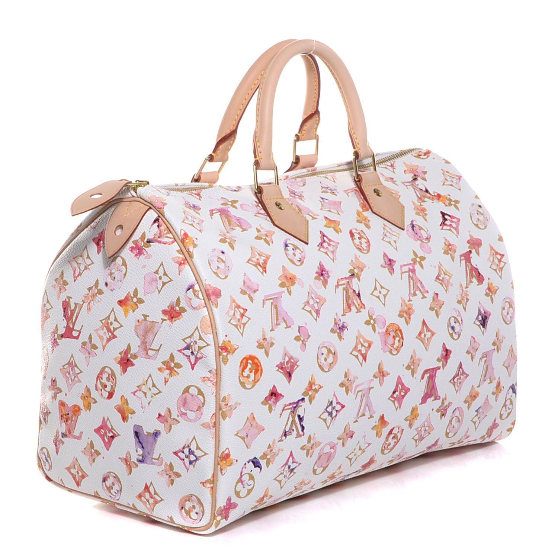 77baa013c65c LOUIS VUITTON Watercolor Aquarelle Speedy 35 Bag White