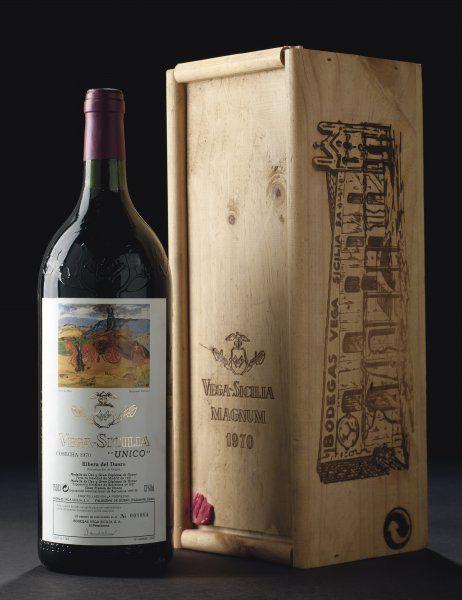 Unico Vintage 1970 Blouin Boutique Christie S Ribera Del Duero Vega Sicilia In Original Wooden Case Wine Bottle Design Wine Crate Wine Food Pairing