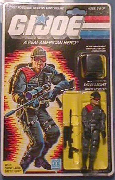 GI Joe g.i Low-Light v1 BACKPACK Vtg weapon 1986 accessory