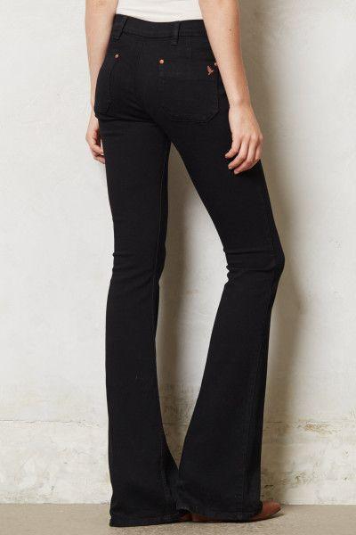 Women's Black Marrakesh Skinny Kick Flare Jeans | Black, Flare and ...