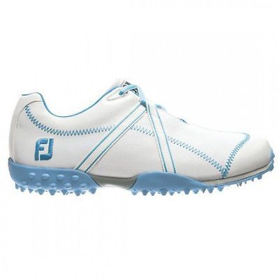 Footjoy Womens M Project Closeout Golf Shoes - White Blue 95656 - project closeout