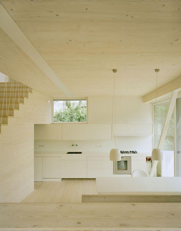 ''JustK'' Eco House by AMUNT #wood #kitchen