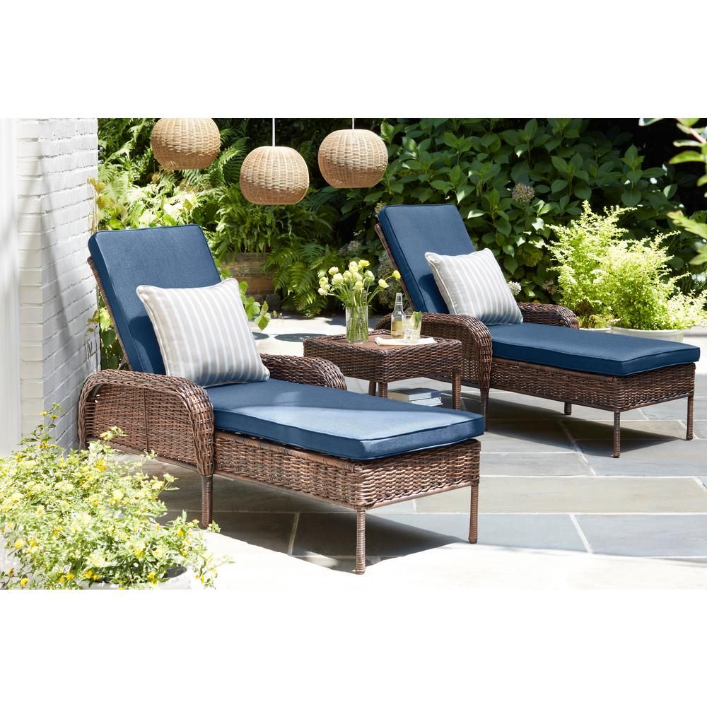 Hampton Bay Cambridge Brown Wicker Outdoor Patio Chaise