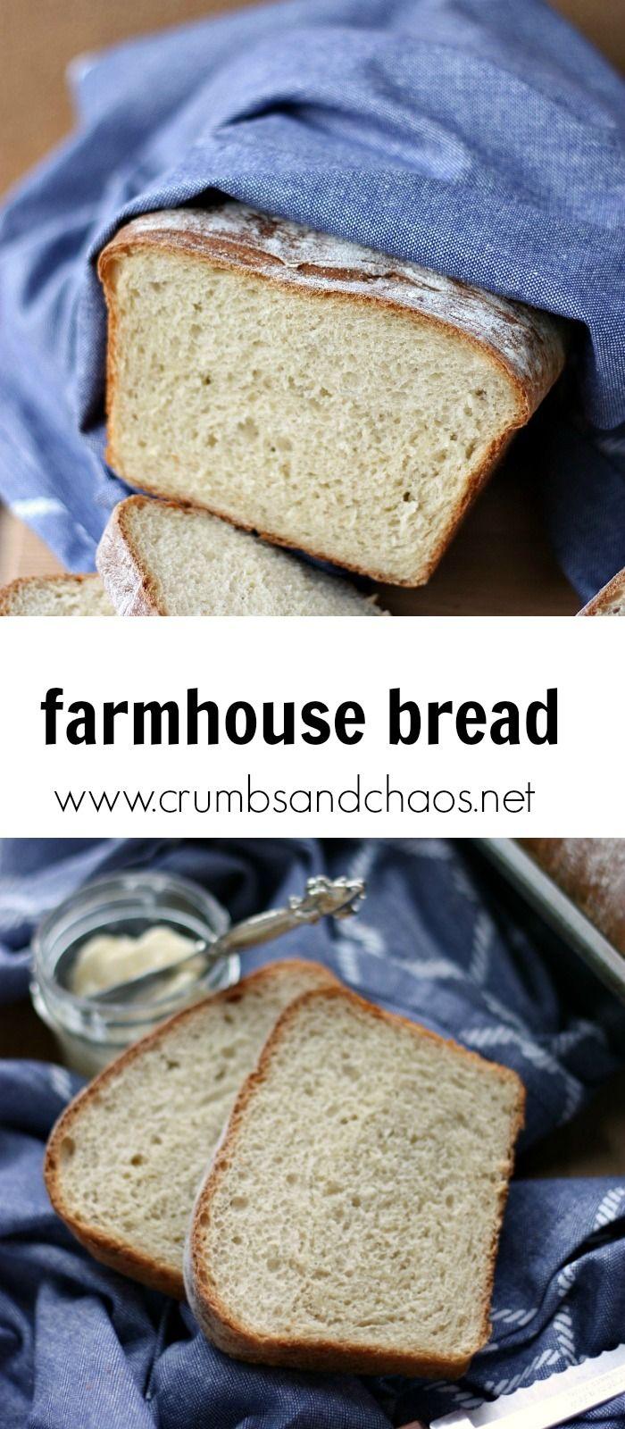 Farmhouse Bread Recipe Farmhouse bread recipe, Bread