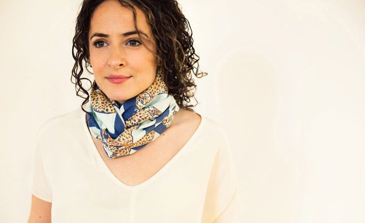 Spots and stripes scarf by rawaan alkhatib striped