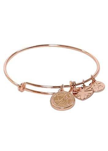 goldtone lyst kors michael gallery logo fulton pink gold bangles charm product bangle braceletrose rose bracelet jewelry normal