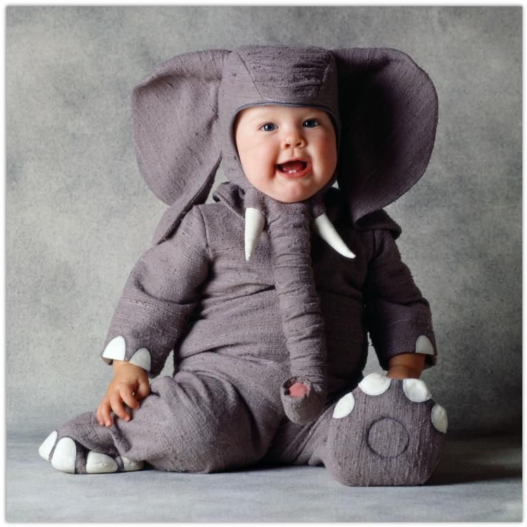 I Heart Elephants And Babies And Babies Dressed As Elephants - 20 of the funniest costumes twin kids can wear at halloween