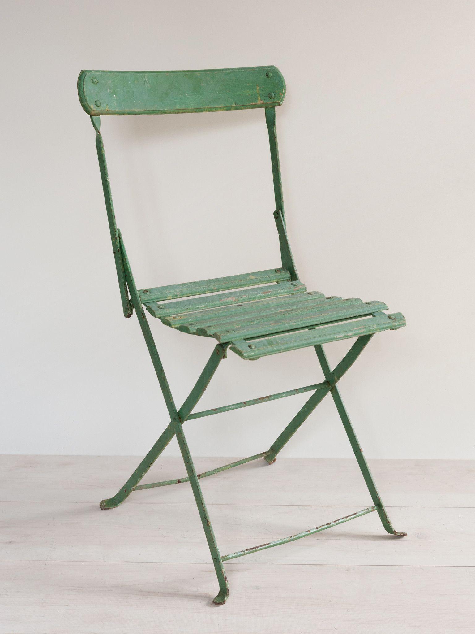 Superieur Set Of 6 Vintage French Folding Cafe Chairs U2013 Decorative Antiques UK