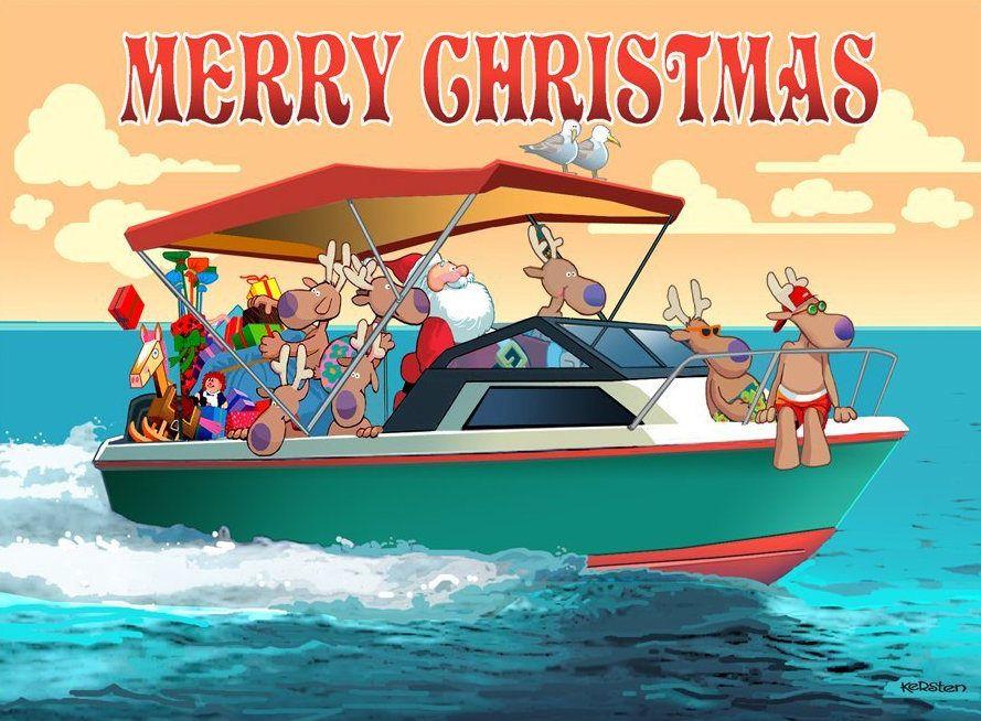Santa Nautical Delivery Christmas cards, Boxed christmas
