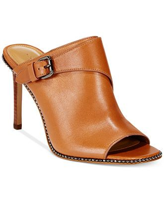 42b333ffc6c0a COACH Maple Dress Mules - Shoes - Macy's. COACH Maple Dress Mules - Shoes -  Macy's Saddle Leather, Leather High Heels ...