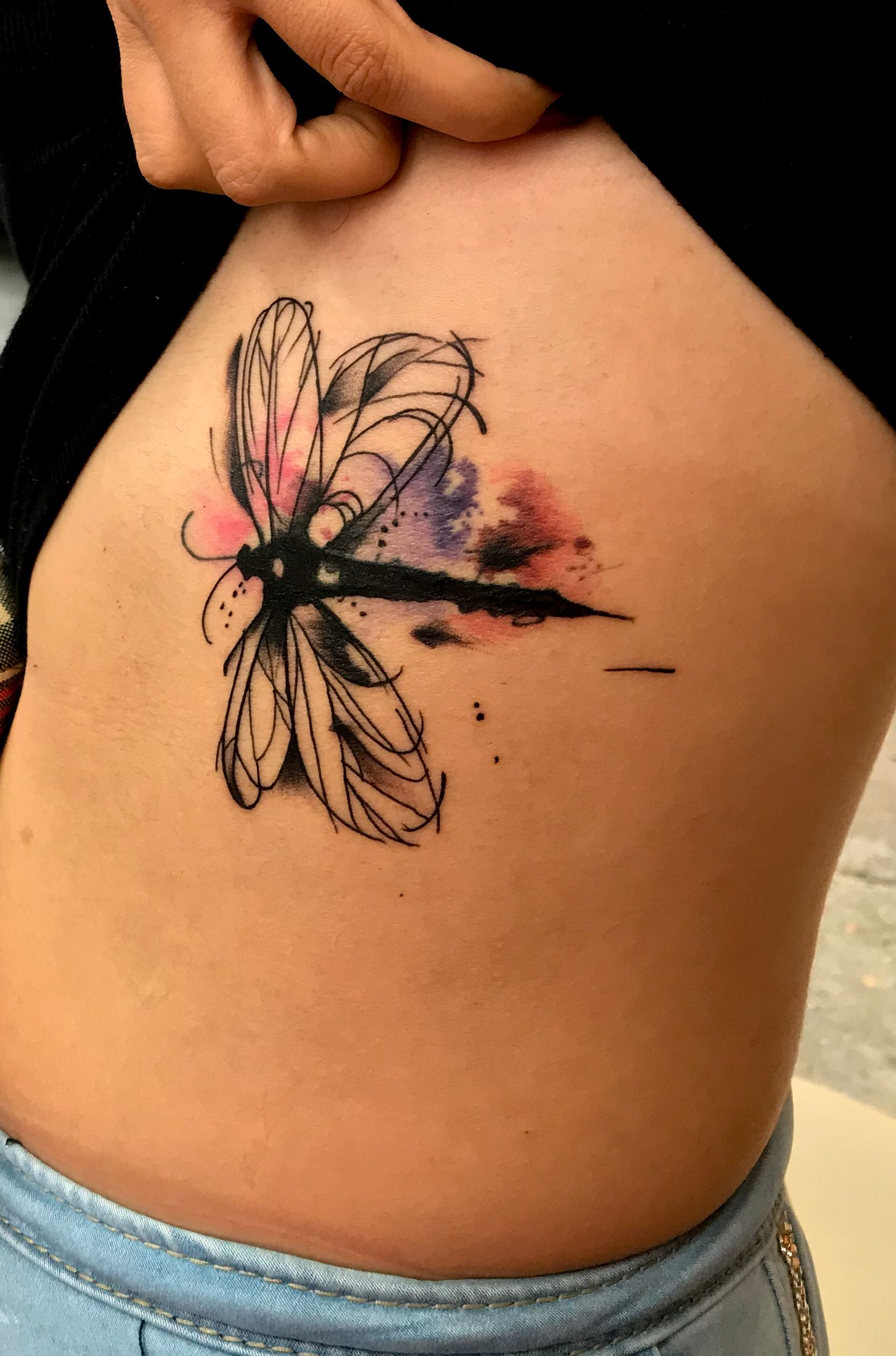 Dragonfly tattoo acuarela tattoos tattooartist dragonfly
