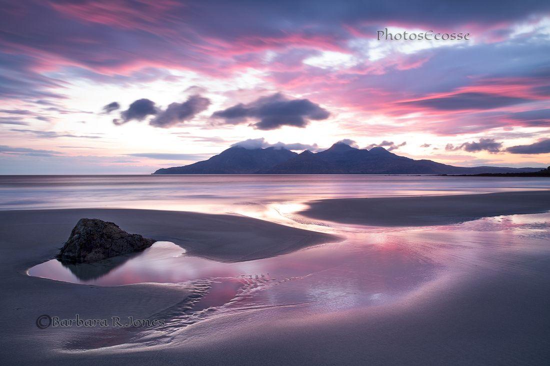 Singing Sands. LE. Pastel Sunset. Isle of Eigg. Scotland.