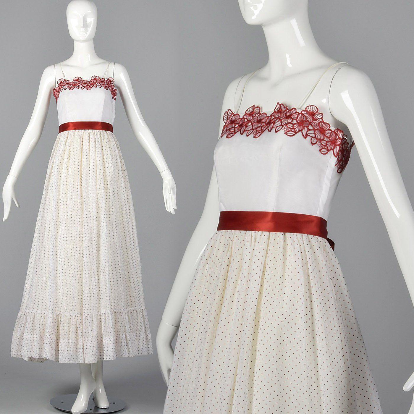 1970s Polka Dot Prom Dress Polka Dot Prom Dresses Dresses Prom Dress Styles [ 1400 x 1400 Pixel ]