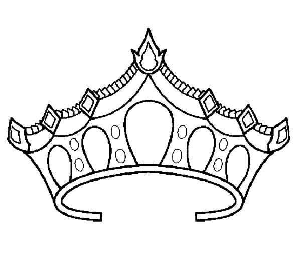 Princess Crown Coloring Pages With Images Princess Crown
