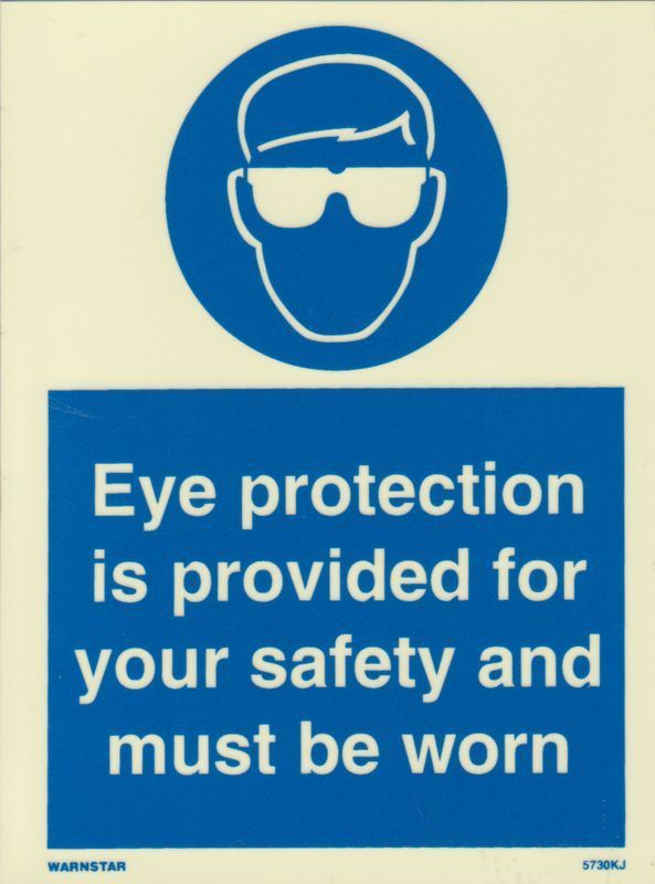 Marine Mandatory Sign Eye Protection Is Provided For Your Safety