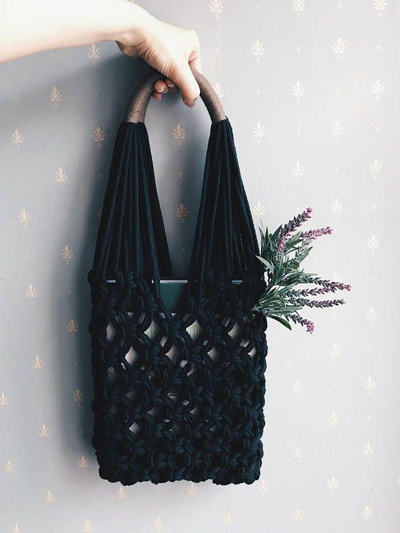 Macrame Bag Market Tote Net String