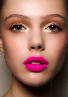 bold lip, soft eyes
