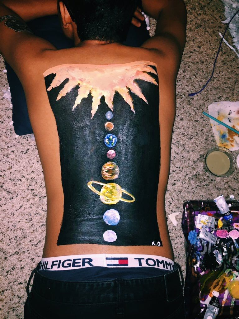 Pin Pinqueenkrys Insta Krystinnelson Body Art Painting Body Painting Body Art