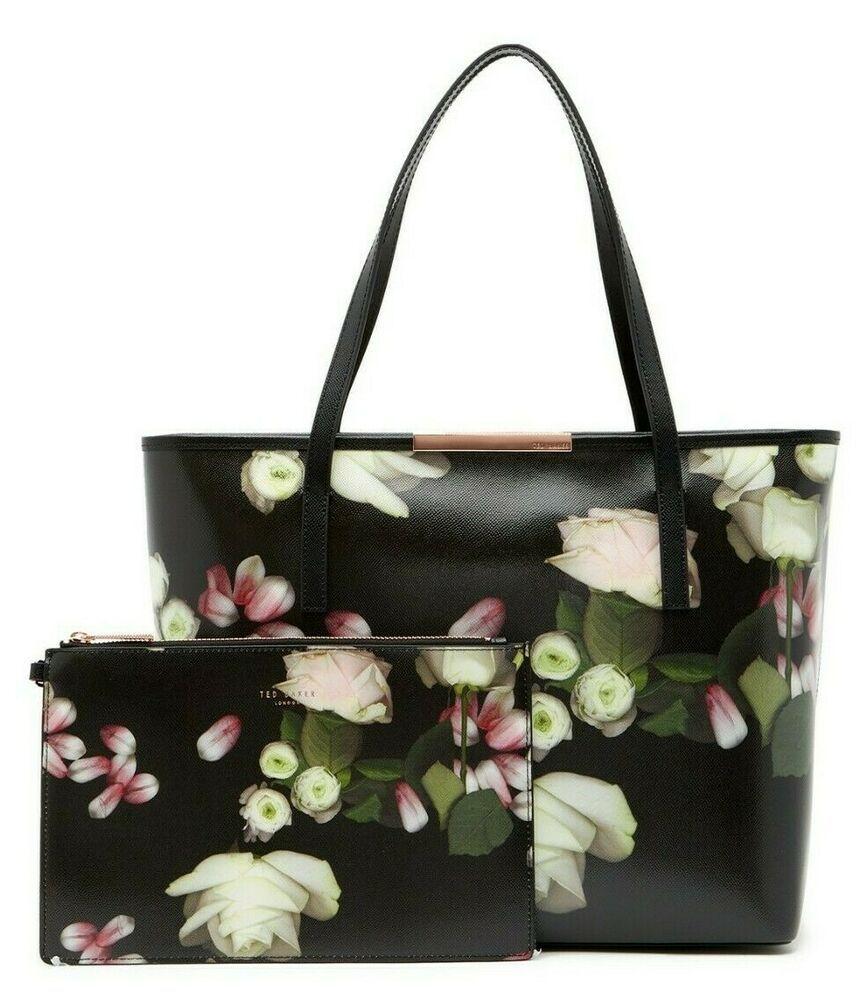Ebay Ad Ted Baker London Kensington Floral Large Leather Shopper