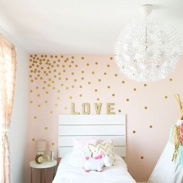 Great Peel And Stick Metallic Gold Polka Dot Wall Decals | Baby Room Decal | Long  Life