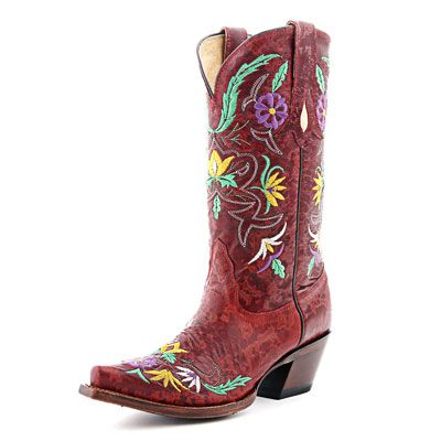 699a73135e58 Tony Lama Floral Red Cowboy Boots VF6012 RED - PFI Western Store ...